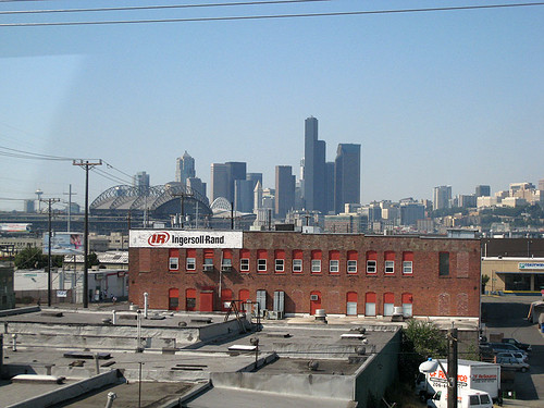 View of Seattle over SODO