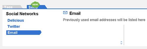 Delicious send - e-mail