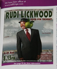 Rudi Lickwood at Edinburgh Festival Fringe 2009 promo