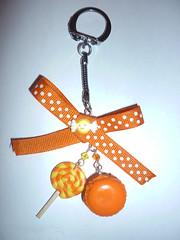 Macaron Lollipop orange