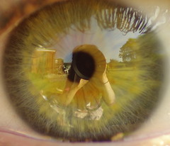 Perspective (gemmabug) Tags: macro reflection green eye closeup fisheye eyelash