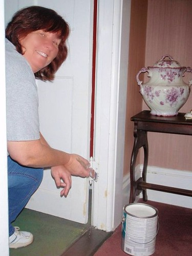 Myself Painting the Door Thresholds