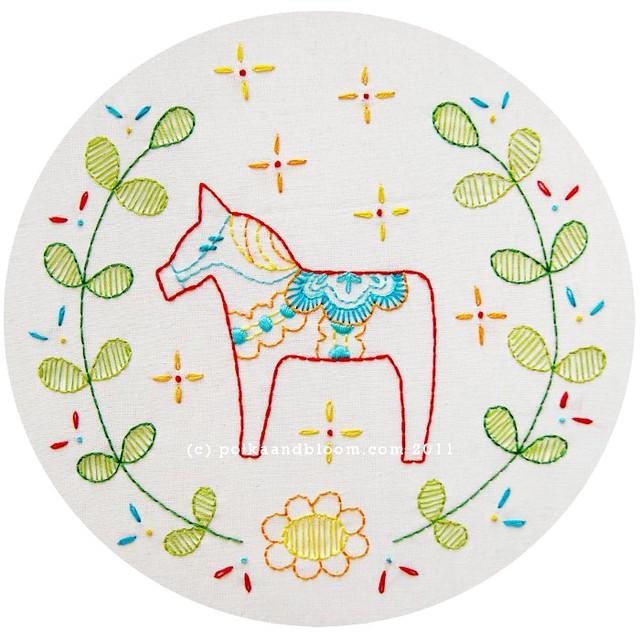 Swedish horse pattern - Dala Häst