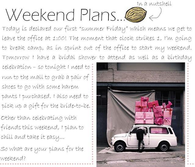weekend plans 6.17