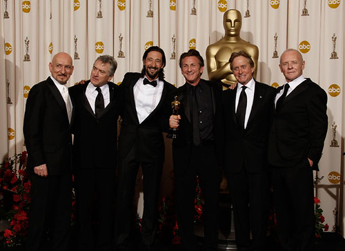 2009 Oscars - Ben Kingsley, Robert DeNiro, Adrien Brody, Michael Douglas, Anthony Hopkins, Sean Penn