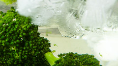 Broccoli in icy water () Tags: green ice water broccoli vegetable