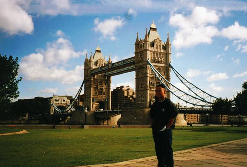Ron by London's Tower Bridge