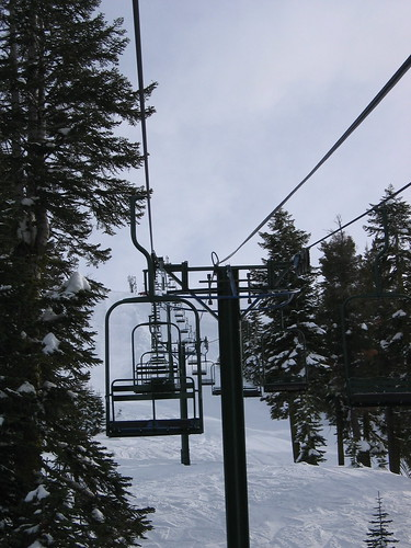 Remember how I said there werent many people here? Theres NO ONE on this lift!