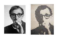 Woody Allen (Stitch Out Loud) Tags: celebrity crossstitch profile gray craft woodyallen stitchoutloud