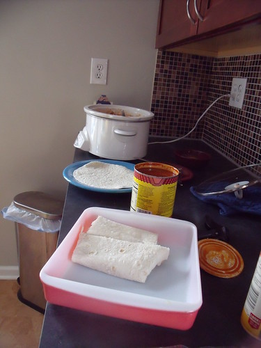 Crockpot Chicken Enchiladas