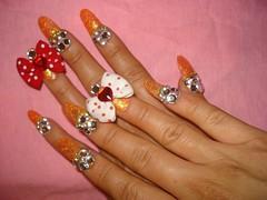 ★My New Nails ~BOWz!!~★ (Pinky Anela) Tags: cute pretty girly deco bows nailart deko japanesenails