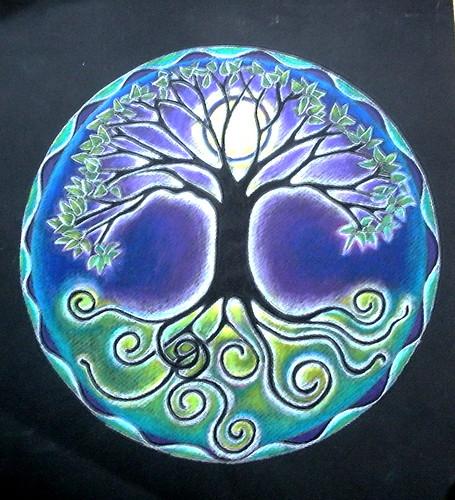 Full Moon Mandala par blue_sea_art