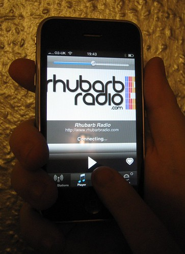Listen to Rhubarb Radio on your iPhone
