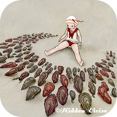 We are here 1 (Hidden Eloise) Tags: red art girl animal fairytale woodland whimsy dress snapshot etsy thumbnail whimsical hidenseek