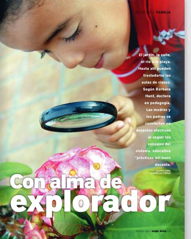Mujer única.EstarBien Familia,Explorador,Jael Jiménez, pág83,Feb.09