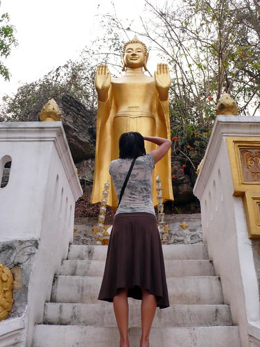 buddhas on phousi hill, luang prabang