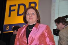Sabine Leutheusser-Schnarrenberger auf dem FDP-Landesparteitag in Dingolfing