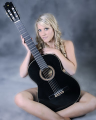 Implied Guitarist: Model Stephanie - MM#1072533 (Illusive Photography) Tags: guitar blonde bakersfield kerncounty impliednude modelmayhem stephanieikeler