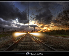 My last photo (Erroba) Tags: sunset electric clouds photoshop canon point rebel belgium belgique tripod suicide perspective tracks belgi sigma trains wires tips rails killed remote lighttrails 1020mm erlend vanishing hdr mechelen afterlife cs3 aprilfoolsday 3xp photomatix ranover tonemapped tonemapping mylastphoto xti 400d hombeek vertorama erroba robaye erlendrobaye uploadedfromthegrave erlendtheghost lastnightawacomsavedmylife obramaestra