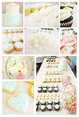 liz and marcel's engagement party (hello naomi) Tags: wedding party cookies cake table dessert cupcakes engagement candy polka dot we daisy jar lollies