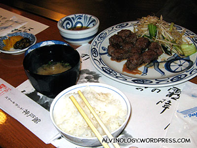 Marks Kobe beef meal