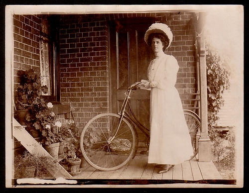 Lady-Bicycle by bloomfield and george.