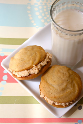 Banana Whoopies with Salted Caramel Filling