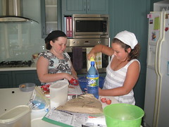 Amy & Hannah make cookies