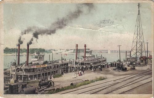 kansascity postcards riverboats