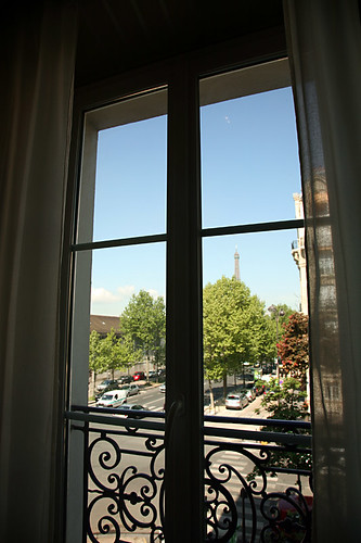 hotel room view, Paris