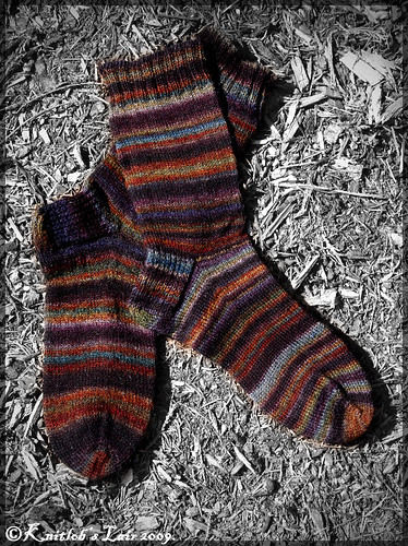 handspun socks stained glass