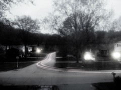 Ghosts (gonisj) Tags: longexposure morning blackandwhite miniature carlights faketiltshift