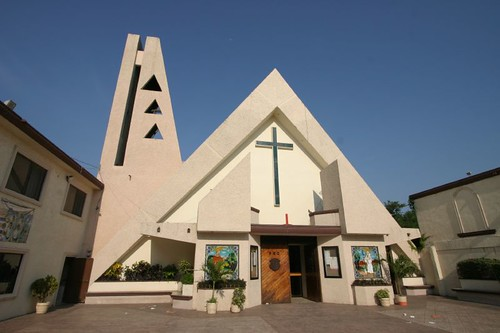 Weird looking church in Aldama, northeastern Mexico.