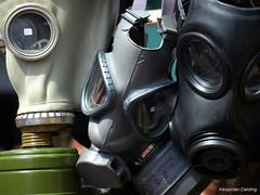 Protection For The Mexican Flu Maybe? (Alexander Darding) Tags: road london olympus portobello alexander swine flu londen gasmasks gasmaskers darding e410 varkensgriep