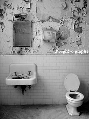 Walls Tumbling Down (Mascarah) Tags: old urban building rot abandoned broken nature architecture bathroom rust pennsylvania decay exploring over toilet explore forgotten urbanexploration vacant taking deserted waterworks decayed ue urbex bloomsburg ruralexploration mascarah