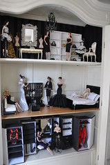Dollhouse redecorated... (toomuchdolls) Tags: white jason fashion club closet miniature doll furniture antique w pop wu fr cupboard royalty dollhouse poppen poppenhuis poupe