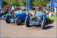 Nick Mason's Bugatti T35's (Si 558) Tags: en club speed climb la mason nick hill bleu bugatti 2009 prescott vie owners nickmason lavieenbleu