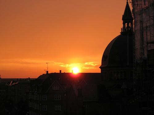 Solnedgang den 26. maj