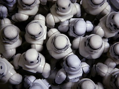 Storm Crowd (JD Hancock) Tags: favorite white trooper fun toy actionfigure star starwars interesting funny action crowd explore cc figure scifi stormtrooper 10k wars friday 5k 1k veryinteresting thesecretlifeoftoys nogeo inkitchen 7daysofshooting filltheframefriday jdhancock week45blackandwhiteincolour