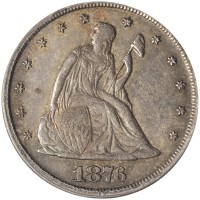 1876-CC 20-cent piece