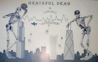 sorry, this doesn't get any bigger... Grateful Dead (locally designed poster) - UIC Pavilion, University of Illinois - Chicago 4/9, 4/10, 4/11/87 [borrowed from www.deadlists.com]