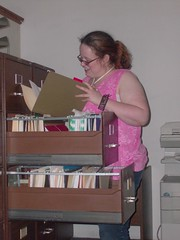 Beth looking for a file (wvdawg) Tags: cabinet beth file teen