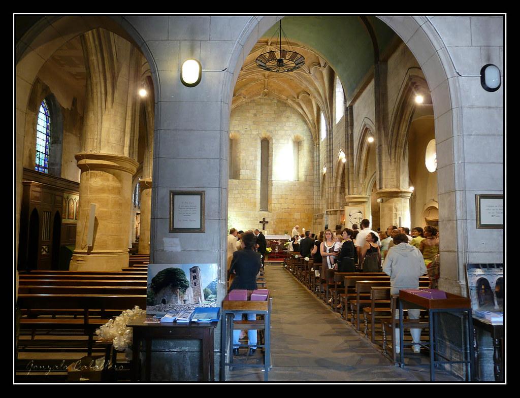 Bayona. Interior de la Iglesia del Espíritu Santo