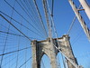 Brooklyn Bridge pylon and cabling