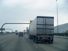 a truck transporting things (bradleygee) Tags: truck colorado driving denver inthecar co freight haul