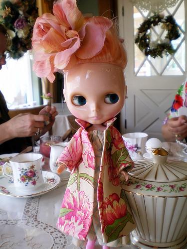Mademoiselle Rosebud at Tea