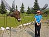Bev Meets Alaskan Mosquitoes (Stephen P. Johnson) Tags: sculpture metal alaska bev delta junction mosquitoes alaskahighway 200907050025