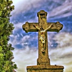 Ecumenism (borkodinus Photography) Tags: sky sunlight sign clouds golden nikon catholic cross serbia vivid battle crucifix christianity nikkor 1001nights corpus orthodox impression vojvodina petrovaradin ecumenism d40 1855vr tekije topazadjust