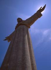 Jesus activates his power-up (pvanorden (back home)) Tags: portugal lisbon cristorei canonelan7 canonef20mmf28usm superherowinner herowinner