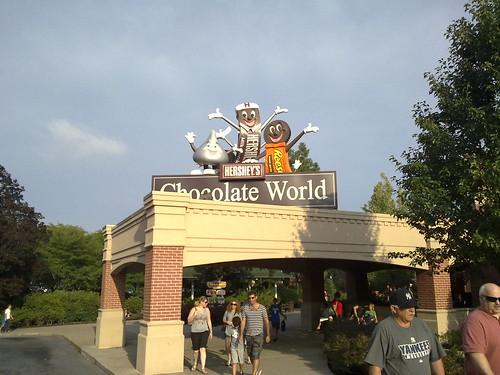 René og Hershey chokoladefabrikken – Roadtrip 2009